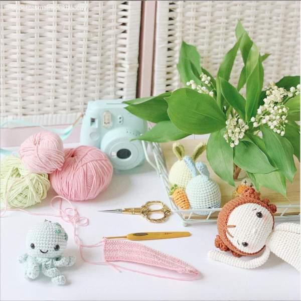 Nguyên liệu và dụng cụ cho người mới học móc len, đan len 3