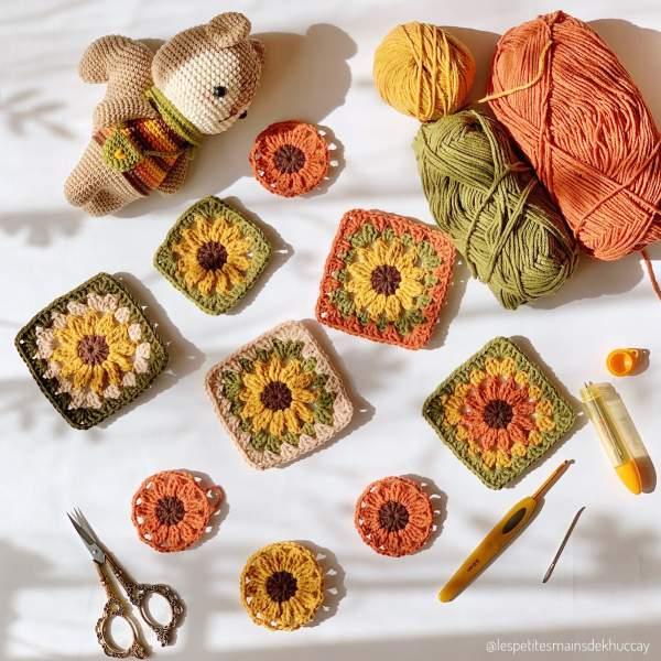 Nguyên liệu và dụng cụ cho người mới học móc len, đan len 9
