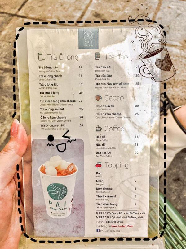 [Review] - ✨PAI COFFEE & TEA✨ 15 Lê Đại Hành, Trà Sữa Xe Đẩy 6