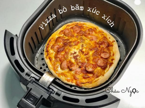 Cách làm PIZZA BÒ BĂM XÚC XÍCH bằng nồi chiên không dầu 12