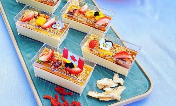 [Công Thức] Pudding Mật Ong Sâm Canada với Thạch Sâm Táo Đỏ 1