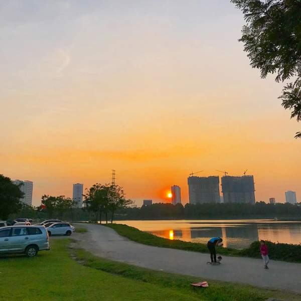 Review Công viên Yên Sở - Hoàng Mai vào một chiều thu 5