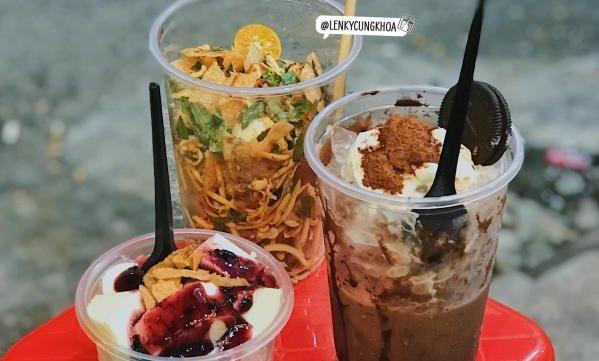 [Review] - LY MILO DẦM SỮA DỪA chỉ 25k, Ăn vặt KO'K 19