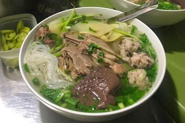[Review] - Quán Bún ngan siêu ngon ở Hà Nội - Lan Ngan Dé - 3 Hoè Nhai 54