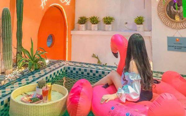 [Review] - Quán Cafe phong cách Bali, bể bơi cực Chill 23