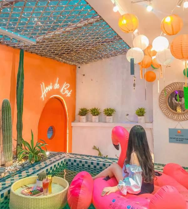 [Review] - Quán Cafe phong cách Bali, bể bơi cực Chill 3
