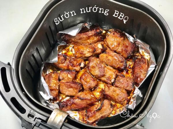 Cách làm SƯỜN NƯỚNG BBQ bằng nồi chiên không dầu 6