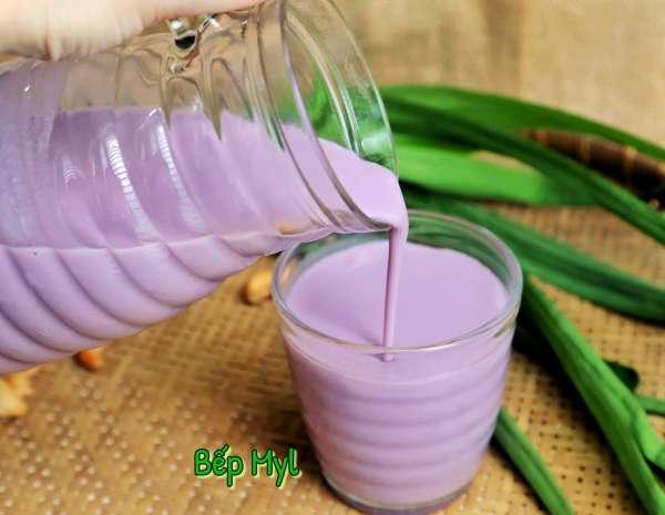 Cách làm sữa hạt Sữa Khoai Lang Tím, Hạt Điều Lá Rứa 73