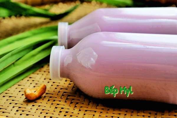 Cách làm sữa hạt Sữa Khoai Lang Tím, Hạt Điều Lá Rứa 2