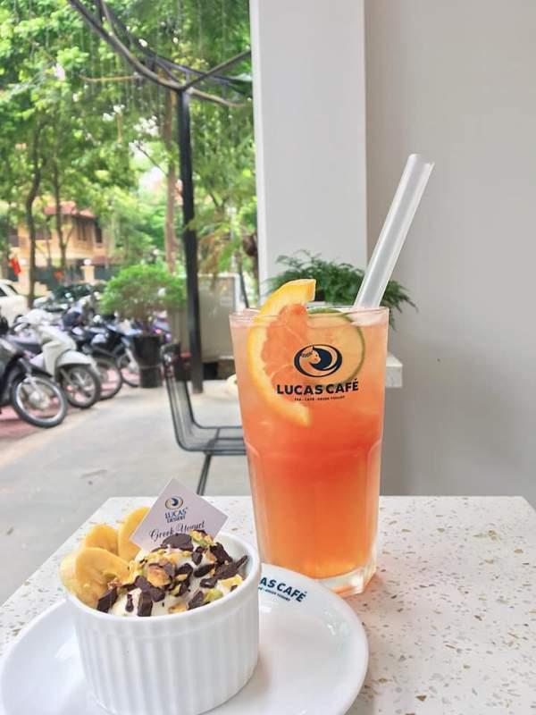 [Review] - Sữa chua Hy Lạp Lucas cafe, biệt thự 17 lô 14B Nam Trung Yên 5