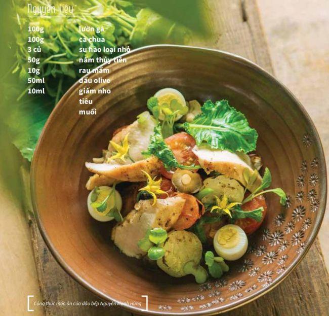 Công thức Salad gà & rau củ nướng - Cách làm Salad chuẩn ngon 2