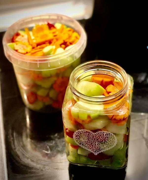 Cách làm Su Su muối chua ngọt cực ngon 9