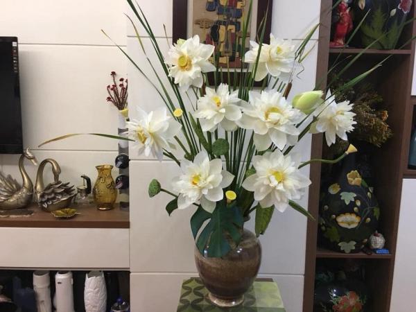 Tổng hợp Cách cắm Hoa Sen cực đẹp, Cắm Bình Hoa Sen Đẹp 3