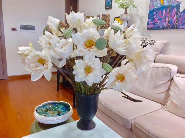 Tổng hợp Cách cắm Hoa Sen cực đẹp, Cắm Bình Hoa Sen Đẹp 7