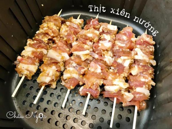Cách làm Thịt xiên nướng chuẩn vị với Nồi chiên không dầu 2