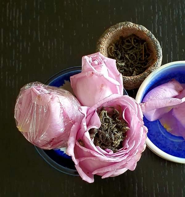 Tự ướp trà với hoa hồng vườn nhà 3