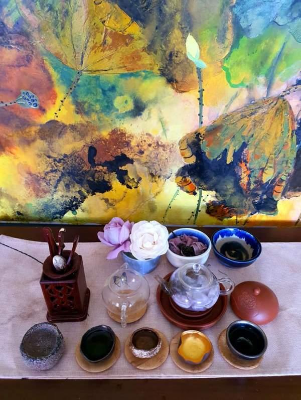 Tự ướp trà với hoa hồng vườn nhà 4