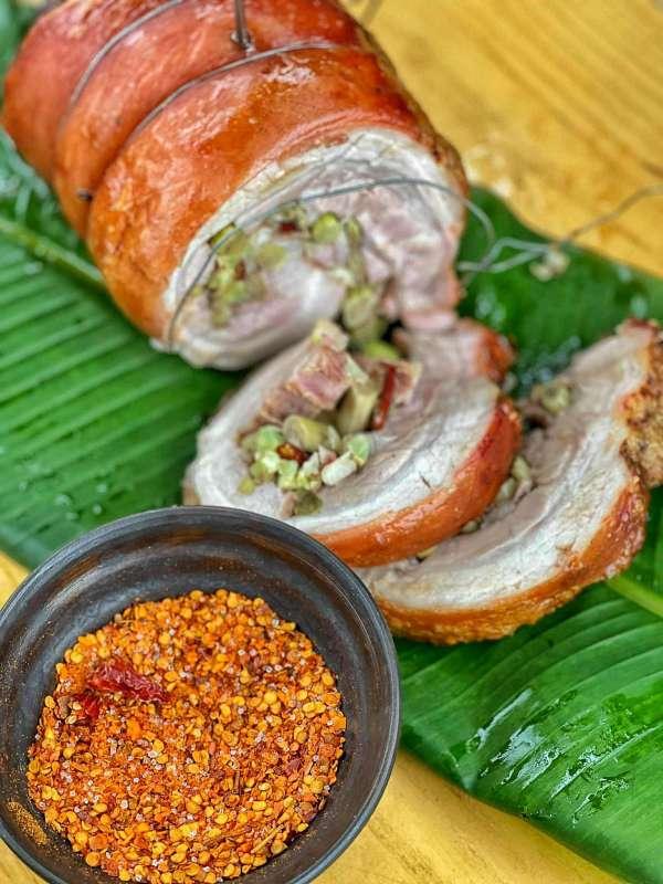 Thịt Lợn Cuộn Quay Ngũ Vị - Nướng 1 cây Ba chỉ ngon cực đã 14