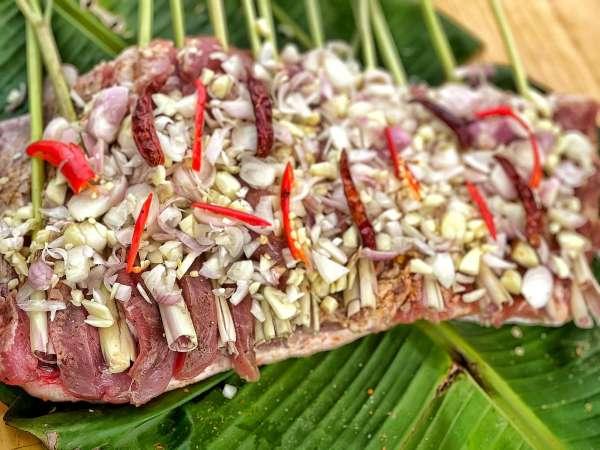 Thịt Lợn Cuộn Quay Ngũ Vị - Nướng 1 cây Ba chỉ ngon cực đã 10