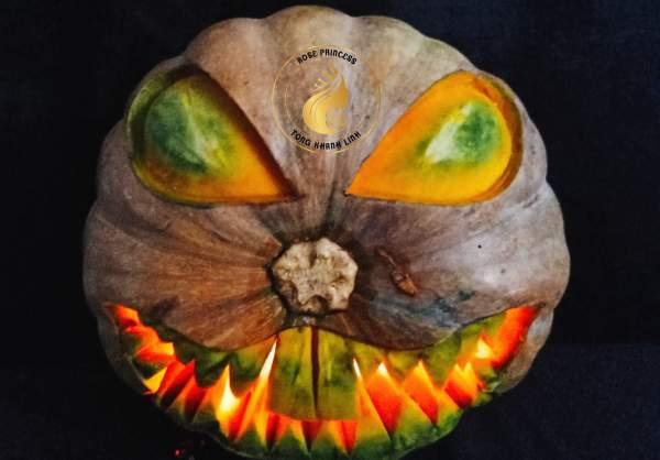 Trang trí cho quả bí đỏ mùa Halloween 18