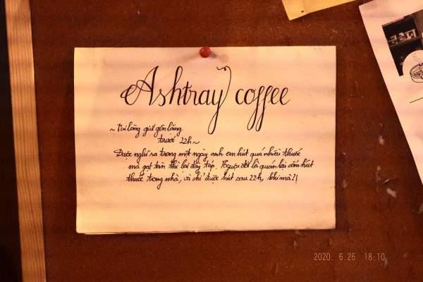[Review] - Ashtray Coffee, Bar nhỏ trong ngõ 170 Hoàng Ngân 7