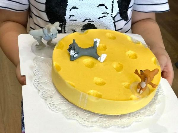 Cách Làm bánh kem Cheessecake cute Tom & Jerry 3