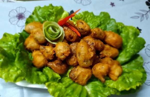 Cách làm món bao tử cá nhồi thịt chiên giòn 10
