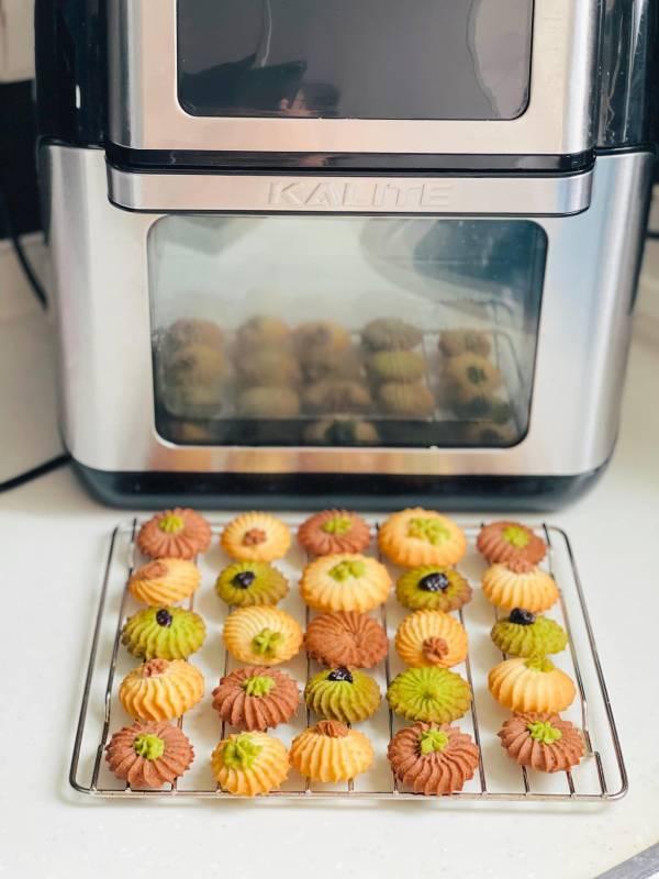 Cách làm bánh quy DANISA bằng nồi chiên không dầu 3