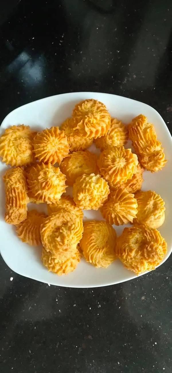 Cách làm bánh quy DANISA bằng nồi chiên không dầu 4