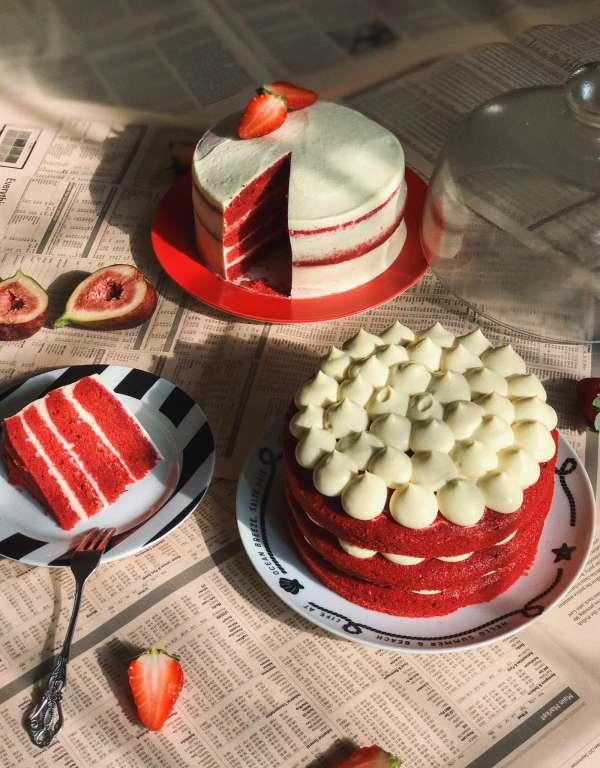 Cách làm Bánh Red Velvet cheesecake thơm ngon mềm mịn 4