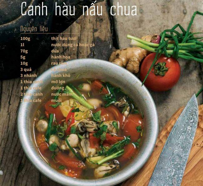 Canh hàu nấu chua - Công thức nấu canh hàu cực ngon 2