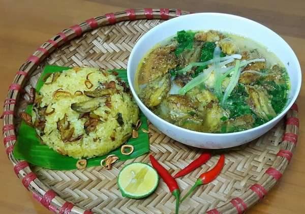 4 Công thức Món ăn Thái Bình : Canh cá rô đồng, Xôi cá rô, con don, Chả rươi 1