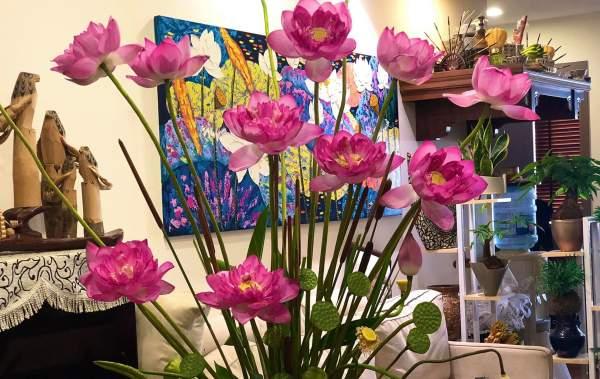 Tổng hợp Cách cắm Hoa Sen cực đẹp, Cắm Bình Hoa Sen Đẹp 10