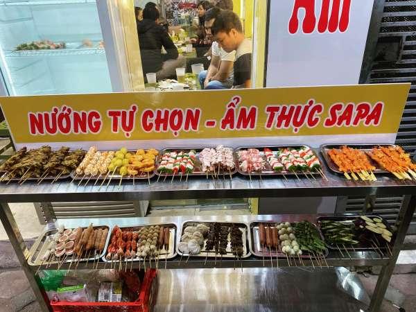 [Review] - Quán nướng tự chọn ngon ở Hà Nội 100k/ 1 người, Ẩm thực Sapa 2