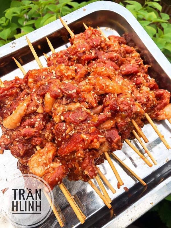 Thịt Xiên Nướng Vỉa Hè - Cách làm thịt xiên cực ngon tại nhà 6