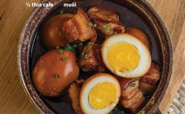 Thịt lợn kho trứng - Công thức & Cách làm thịt lợn kho trứng 18