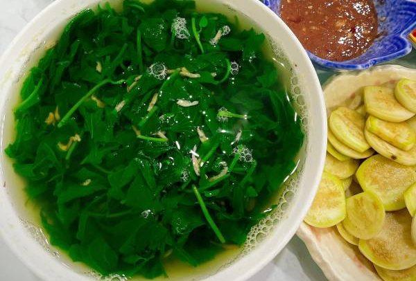 Trông Khoai Lang tại nhà, Canh Khoai Lang nấu Ruốc 55
