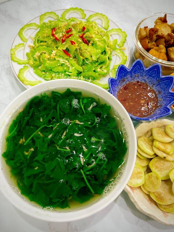 Trông Khoai Lang tại nhà, Canh Khoai Lang nấu Ruốc 2