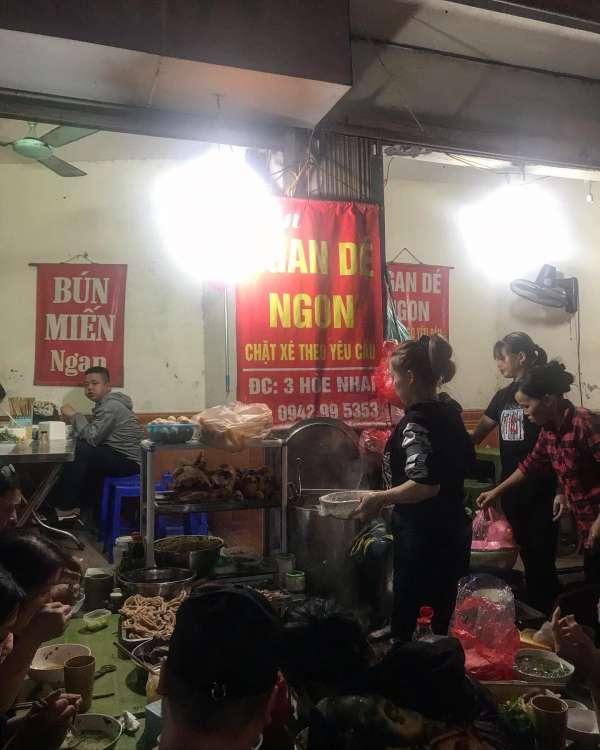 [Review] - Quán Bún ngan siêu ngon ở Hà Nội - Lan Ngan Dé - 3 Hoè Nhai 2